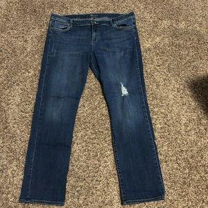 Men's Hudson button fly jeans size 36/29 med dark